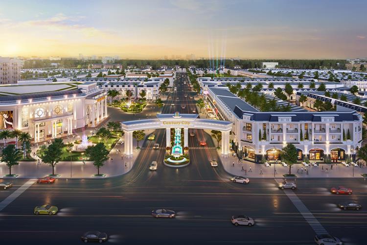 Phối cảnh cổng chính dự án đất nền Century City