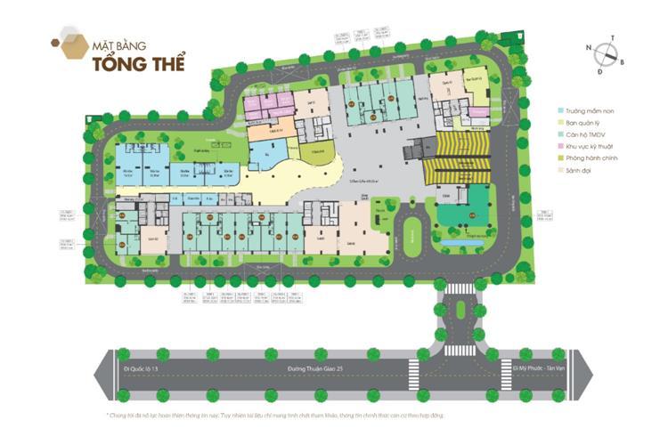 Mặt bằng tổng thể dự án căn hộ Legacy Central