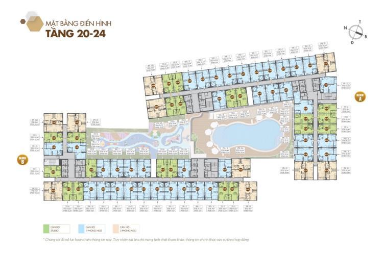 Mặt bằng tầng 20 đến 24 dự án căn hộ Legacy Central