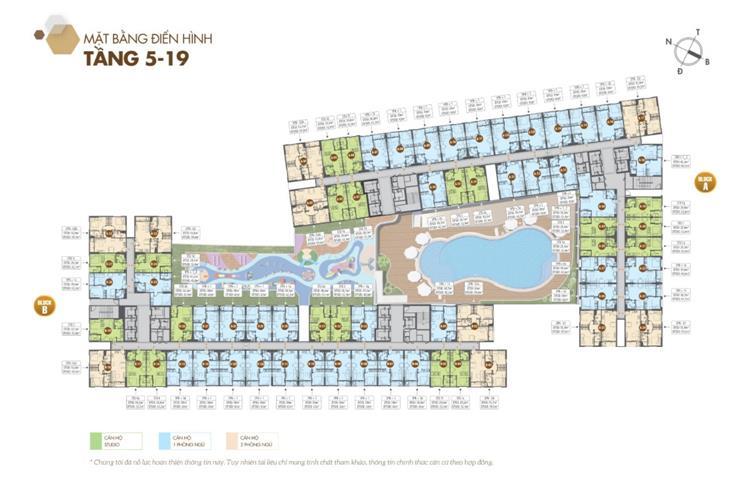 Mặt bằng tầng 5 đến 19 dự án căn hộ Legacy Central