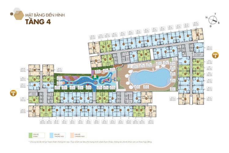 Mặt bằng tầng 4 dự án căn hộ Legacy Central