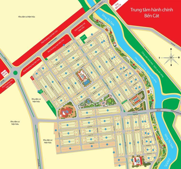 Sơ đồ phân lô dự án Mega City