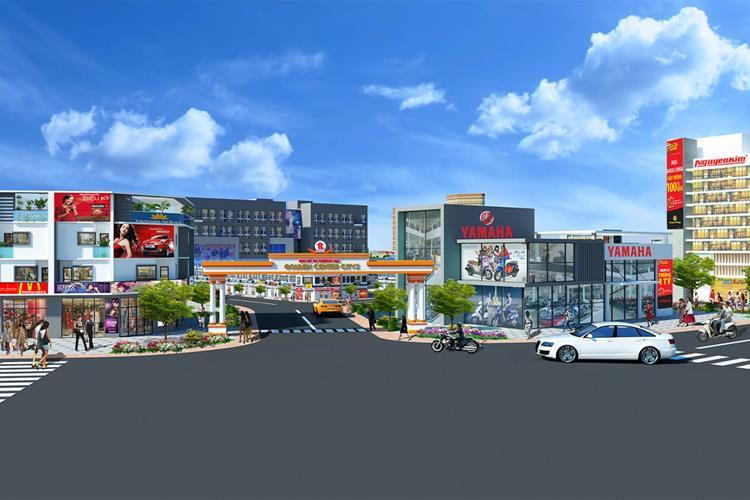 Trung tâm thương mại sầm uất trong nội khu dự án