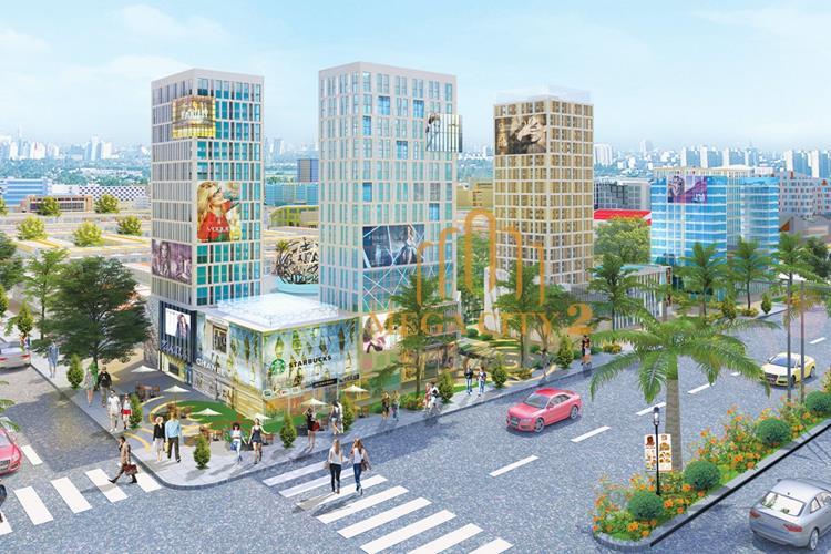 Khu trung tâm thương mại sầm uất của dự án Mega City 2