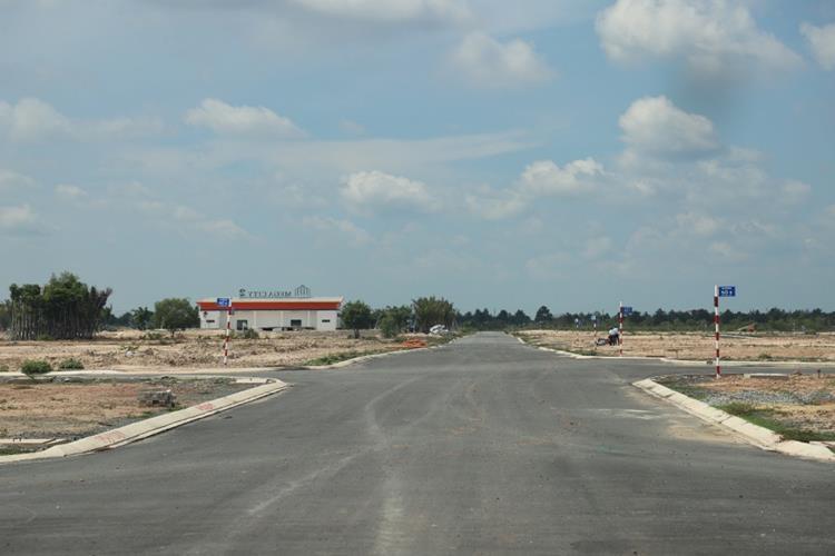 Hệ thống đường nội khu rộng rãi của dự án