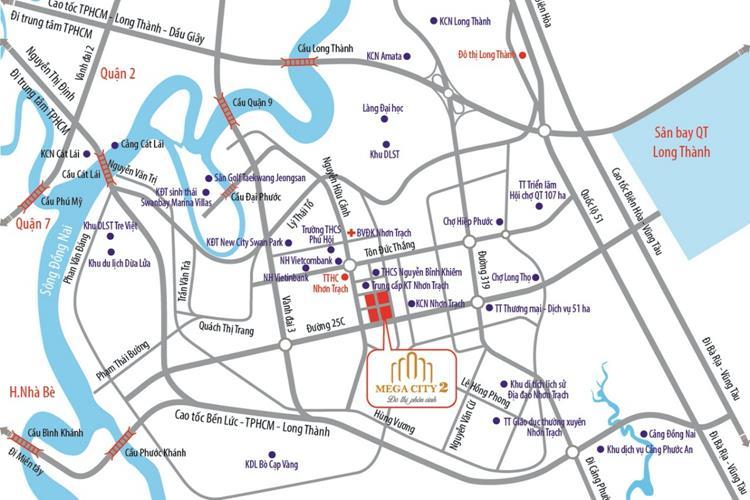 Vị trí dự án Mega City 2 Nhơn Trạch, Đồng Nai