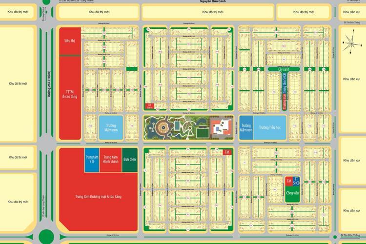 Mặt bằng dự án Mega City 2 Nhơn Trạch, Đồng Nai