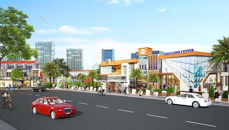 Đường nội khu rộng rãi của dự án