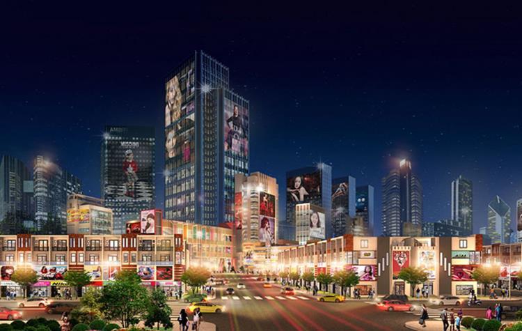 Phối cảnh trung tâm thương mạidự án Đại Phước Center City