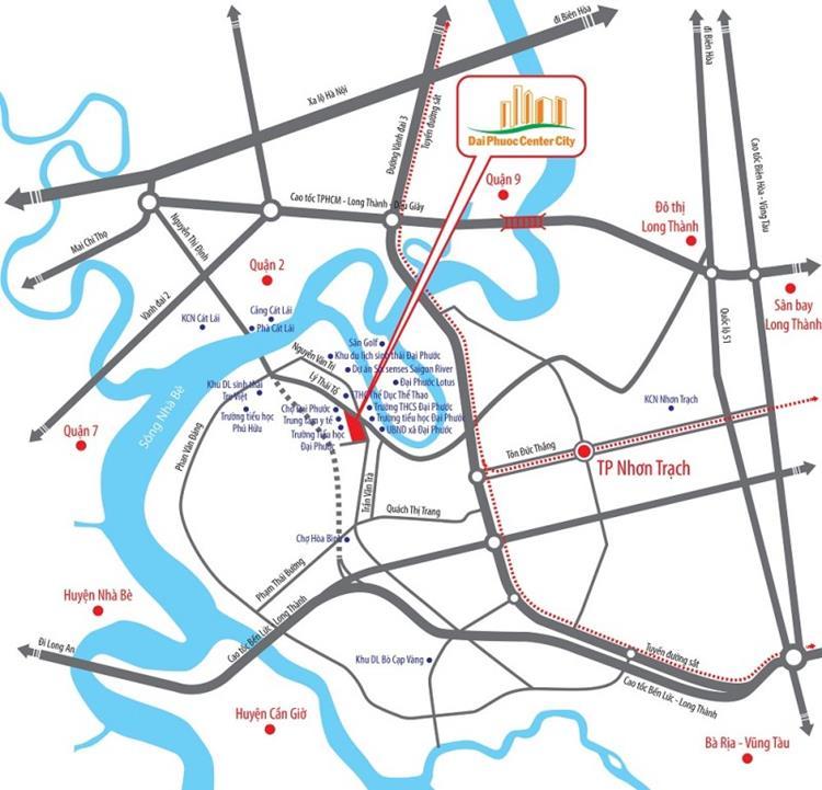 Vị trí toạ lạc vàng dự án Đại Phước Center City