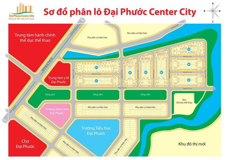Sơ đồ phân lô chính thức dự án Đại Phước Center City