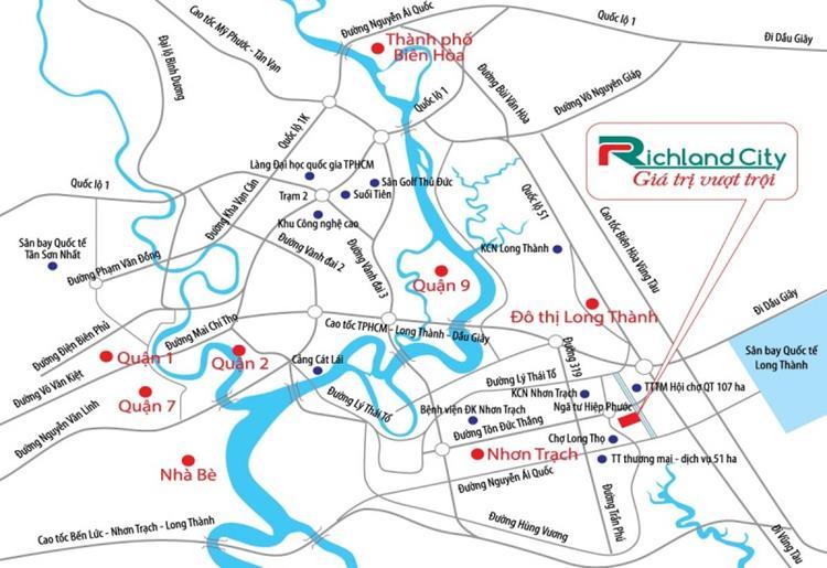 Toạ lạc vàng dự án Kim Oanh Nhơn Trạch Richland City