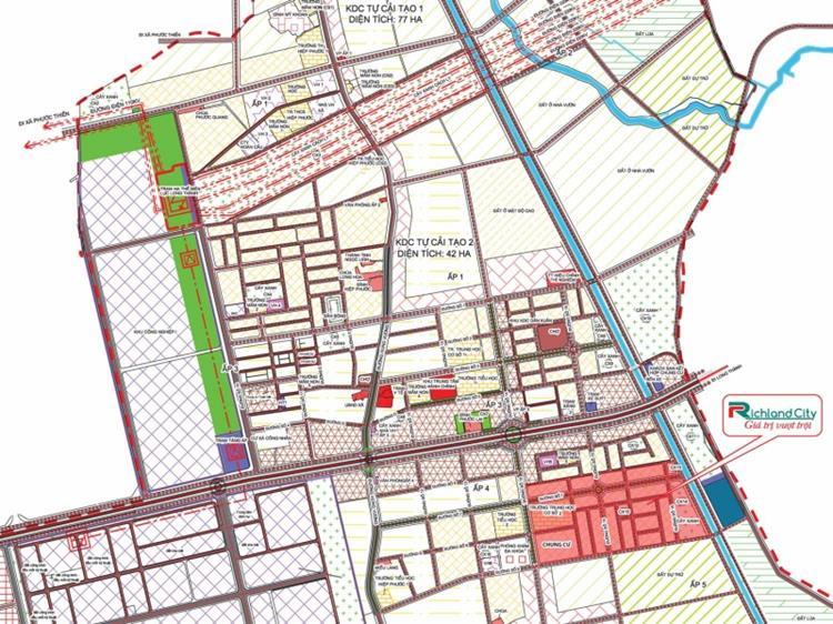 Richland City với giá trị vượt trội thừa hưởng hệ thống giao thông đồng bộ của huyện Nhơn Trạch.