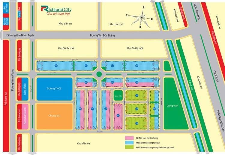 Mặt bằng phân lô dự án Richland City
