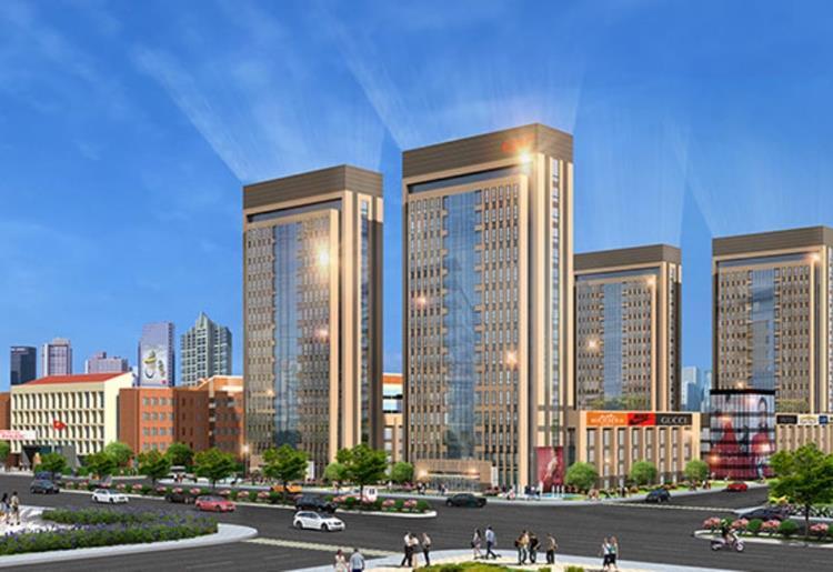 Phối cảnh trung tâm thương mại tại dự án Richland City