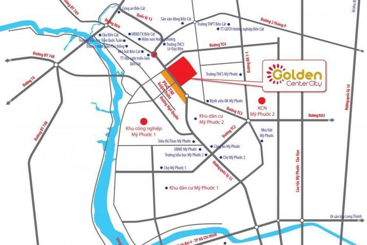 Vị trí dự án Golden Center City Bình Dương