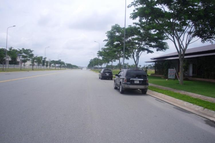 Đường nội khu dự án rộng rãi