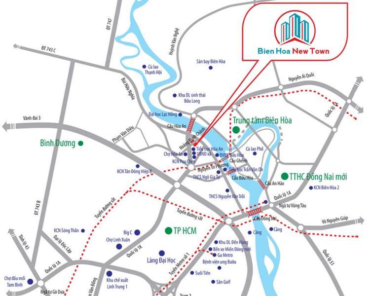 Vị trí dự án Biên Hoà New Town