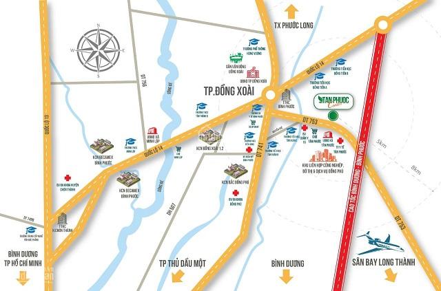 Lộ trình của tuyến cao tốc Đồng Phú - Bình Dương