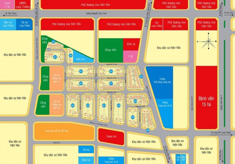 Mặt bằng phân lô dự án Singa City tại Quận 9